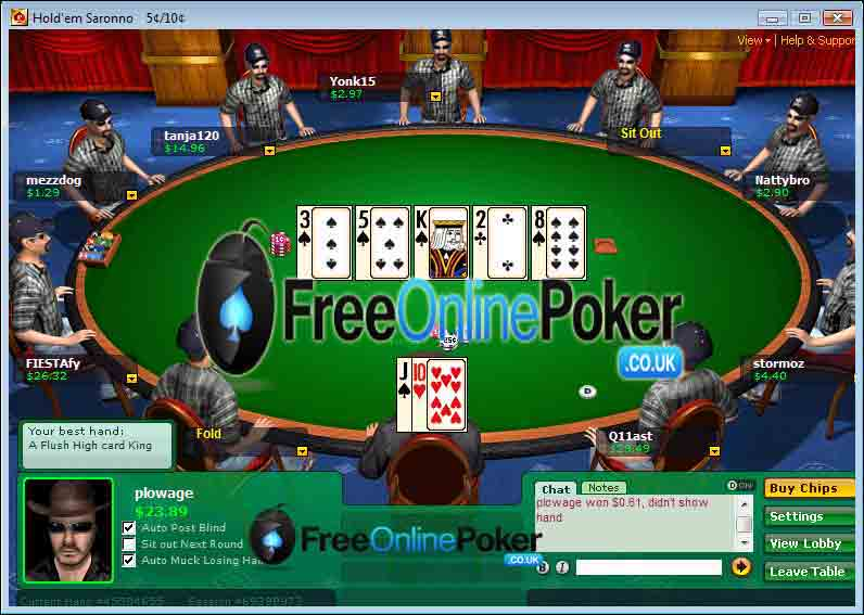 Virtual roster live casino